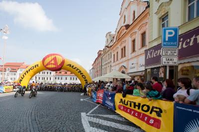 start na náměstí v Klatovech