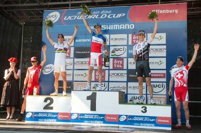 1. Absalon, 2. Schurter, 3. Kulhavý, 4. Sauser, 5. Vogel