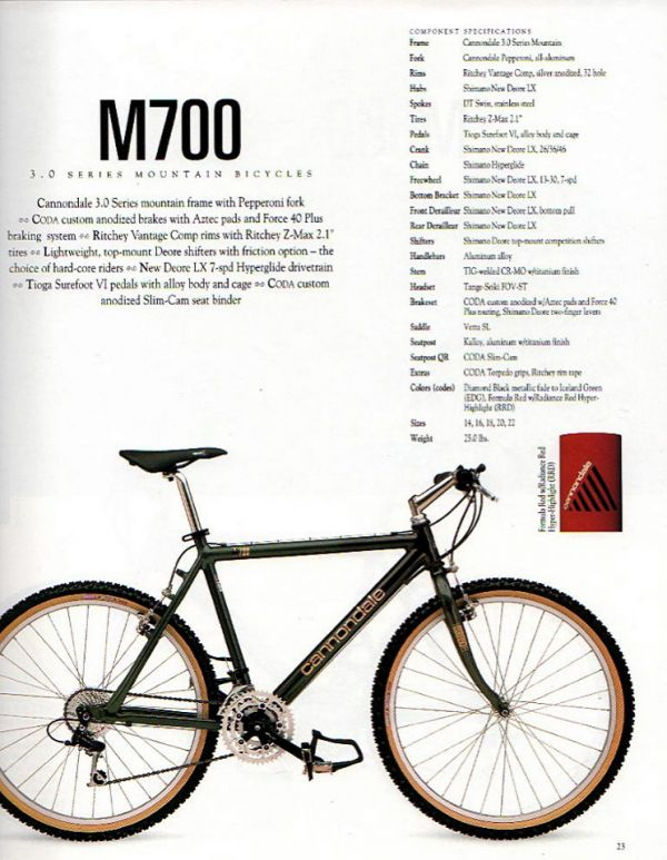 Cannondale V700 retro