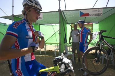 Ondra Cink vyráží na start štafety