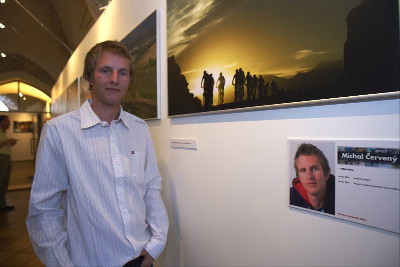 Michal u svých fotek