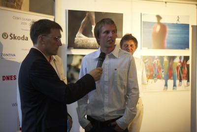 Michal prezentuje svou kolekci fotek