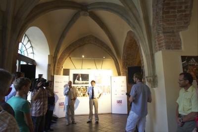 Předseda Olympijského výboru Milan Jirásek zahajuje výstavu