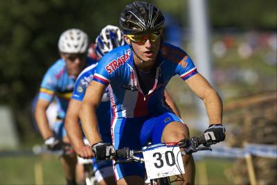Tomáš Paprstka byl do půlky závodu na čele