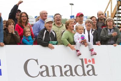 kanadští fanoušci závod žen hodně prožívali
