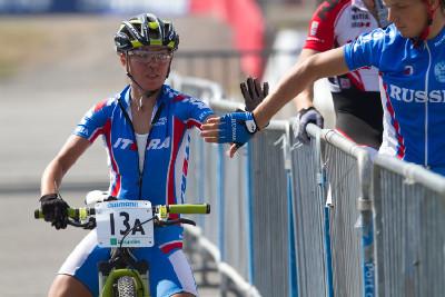 Irina Kalentieva jela první úsek za Rusko