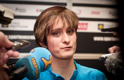 Martina Sáblíková v zajetí médií
