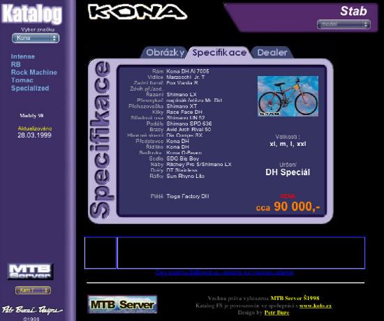 Katalog kol druhé generace 1999