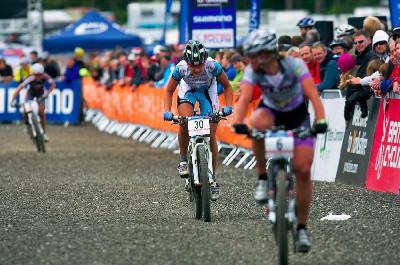 Tereza Huříková sprintuje do cíle