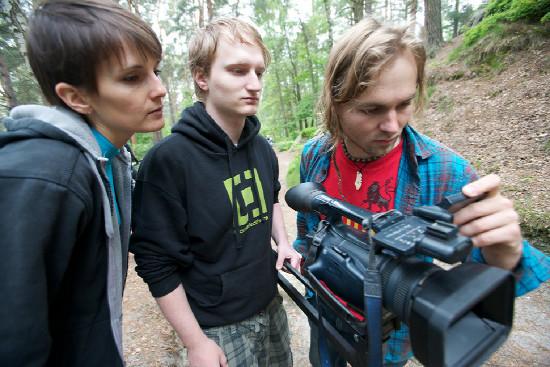 backstage natáčení s Birelem