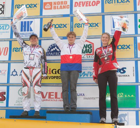 stupně vítězů - ženy