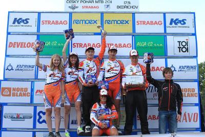 Stupně vítězů - tým Remerx Cycling Kolín