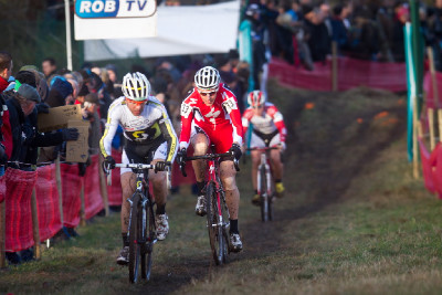 bikeři Florian Vogel a Jaroslav Kulhavý