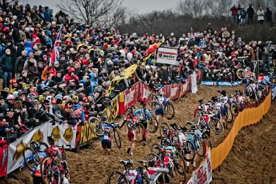 cyklokros na dunách v Koksijde