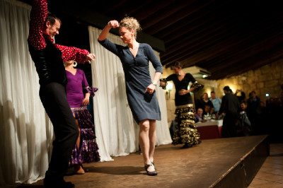 Týmová prezentace na Mallorce - Gunn Rita Dahle tančí flamengo