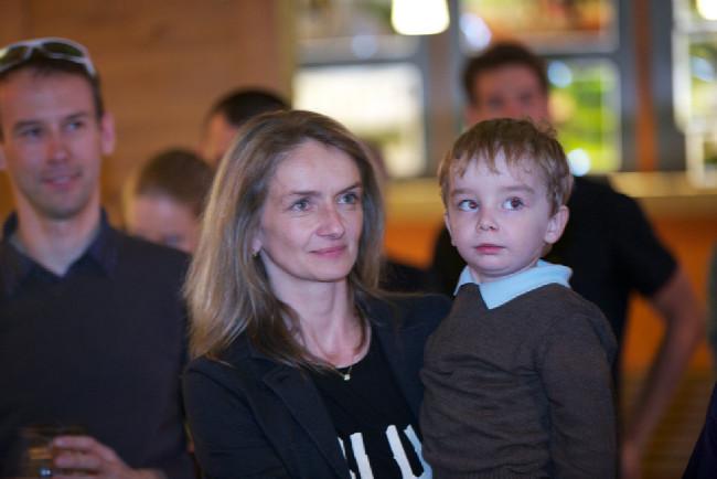 Otevření Kolonialu Markéta Navrátilová se synem