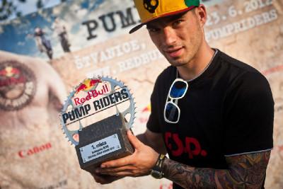 vítěz MTB Red Bull Pump Riders Tomáš Slavík