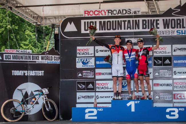 U23 podium s nejrychlejším bikem