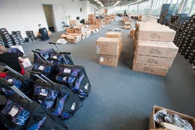 Olympijský sklad v O2 Aréně se pomalu vyprázdňuje