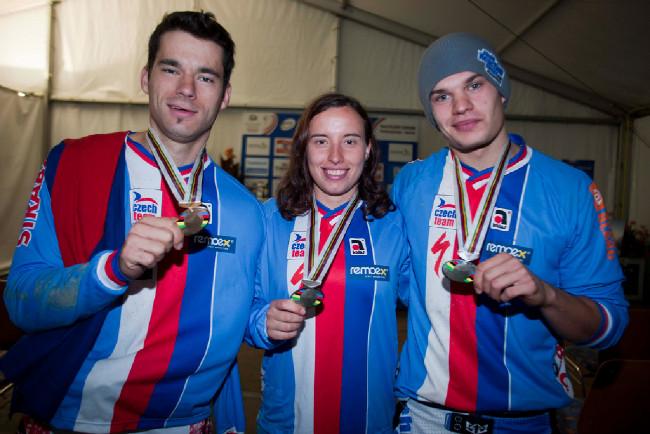 Trojlístek českých medailistů Slavík, Labounková a Měchura
