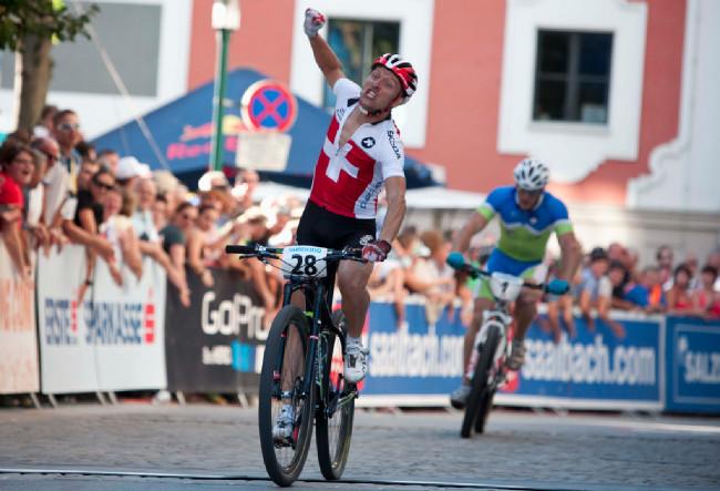 Sprint Eliminator - první mistr světa v XCE Ralph Näf, foto: Michal Sváček