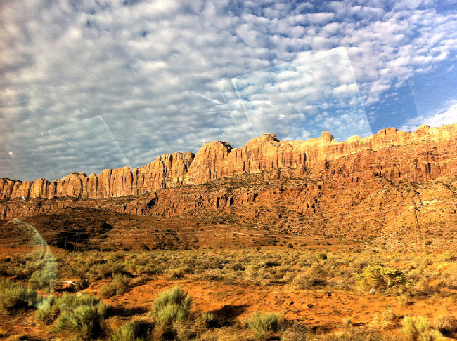 Moab 2012 cestou na start