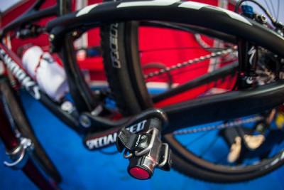 nové pedály Look S-Track na biku Christopha Sausera