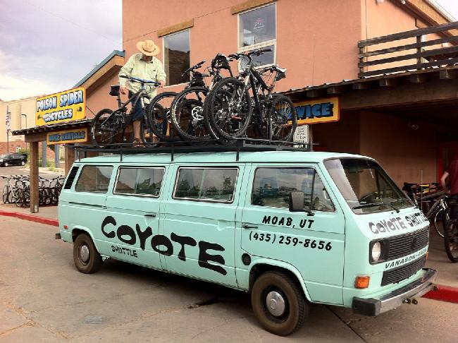 Moab 2012 naše taxi na trail