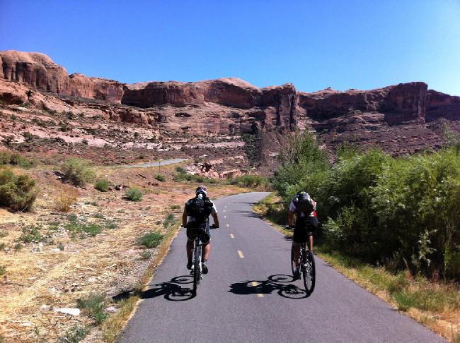 Moab 2012 závěrečný návrat po cyklostezce