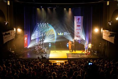 slavnostní vyhlášení Krále cyklistiky 2012 v divadle Hybernia