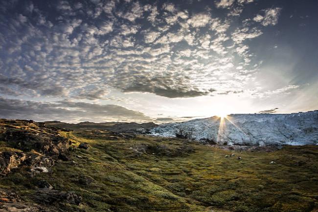 Petr Kraus v Grónsku - pěkné panoramato s Russel Glacierem