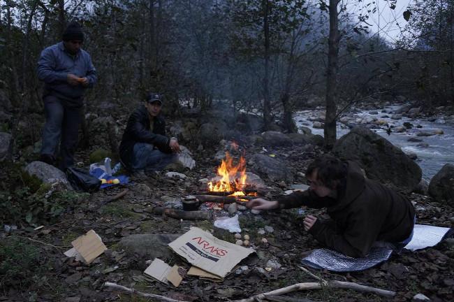 štědrovečerní hostina s místními rybáři - Iran