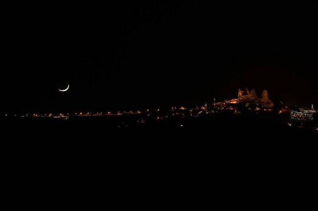Noční Kapadokie