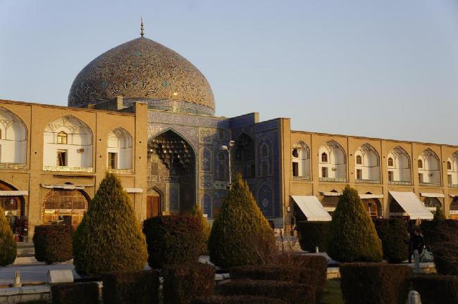Náměstí s mešitou v Esfahanu