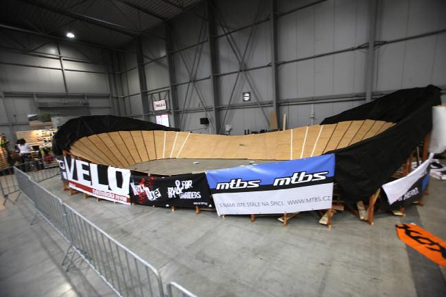 Expozice na veletrhu ForBikes 2013 závodiště 4events