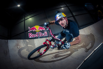 Michal Prokop na Red Bull pumptracku