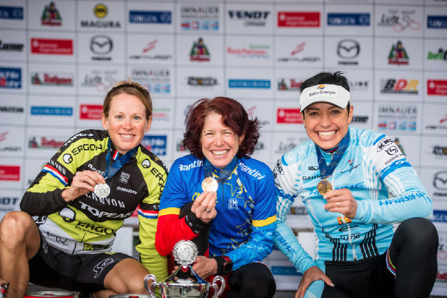 1. Esther Süss, 2. Sally Bigham, 3. Sabine Spitz