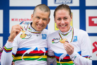 Christoph Sauser a Gunn Rita Dahle