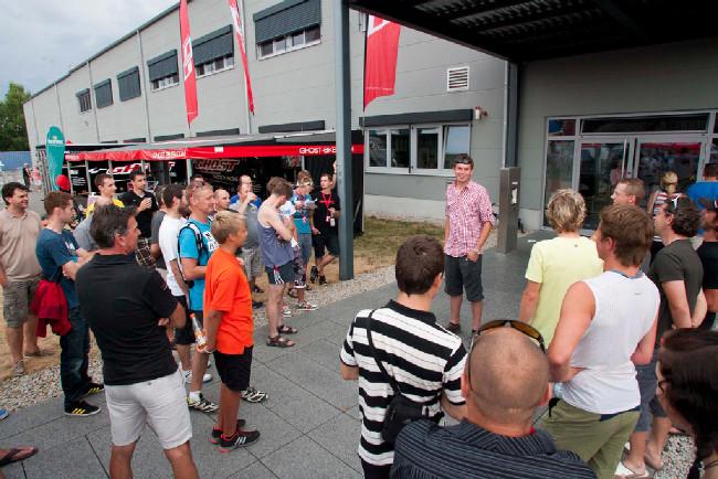 Přivítání v Ghost šéfem české distribuce panem Schindlerem