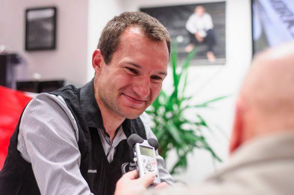 Jan Bárta v rozohovoru s novináři