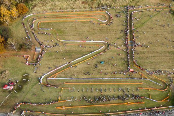 závod světového poháru v Táboře z ptačí perspektivy