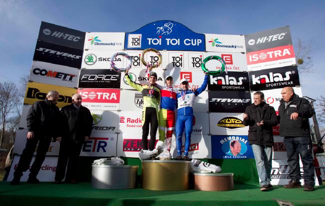 MČR v cyklokrosu, Loštice 2014: Stupně vítězů