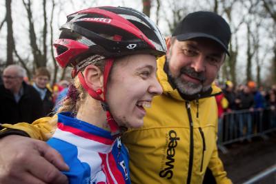 Martina Mikulášková s trenérem Milanem Chrobákem