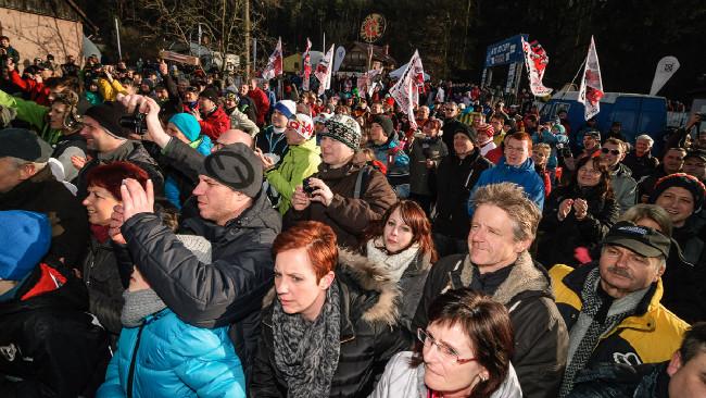MCŘ v cyklokrosu, Loštice 2014: fanoušků se v Lošticích sešlo opravdu hodně