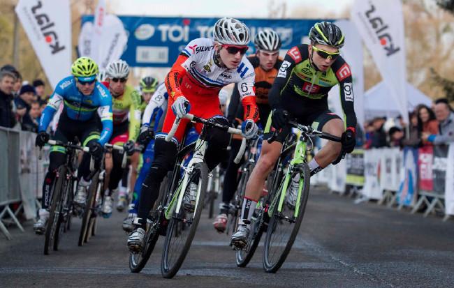 MČR v cyklokrosu, Loštice 2014: start závodu