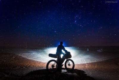 noční trénink na krkonošských hřebenech