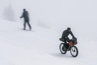 Trénink Pavla Richtra na Iditarod 2014