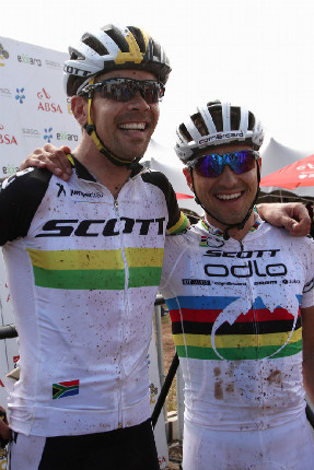 Cape Epic 2014 - Philip Buys a Nino Schurter
