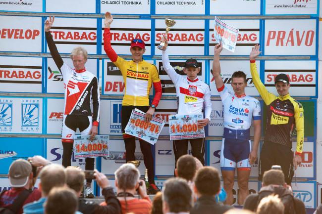 ČP MTB XCO Teplice 2014: stupně vítězů muži