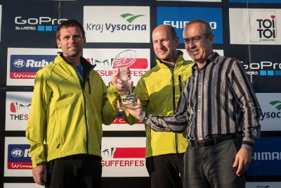cena pro Jána Svoradu a Petra Vaňka za nejlepší závod Světového poháru 2013